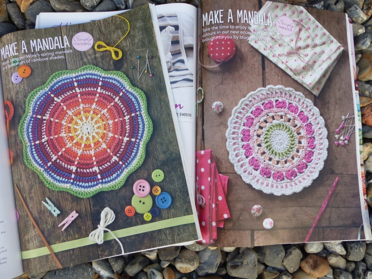 I've kept all my copies of Simply Crochet magazine and these are a couple of mandala's designed by Wink...