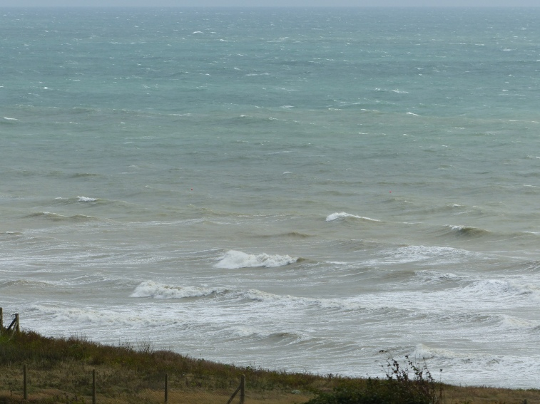 The rough sea today.