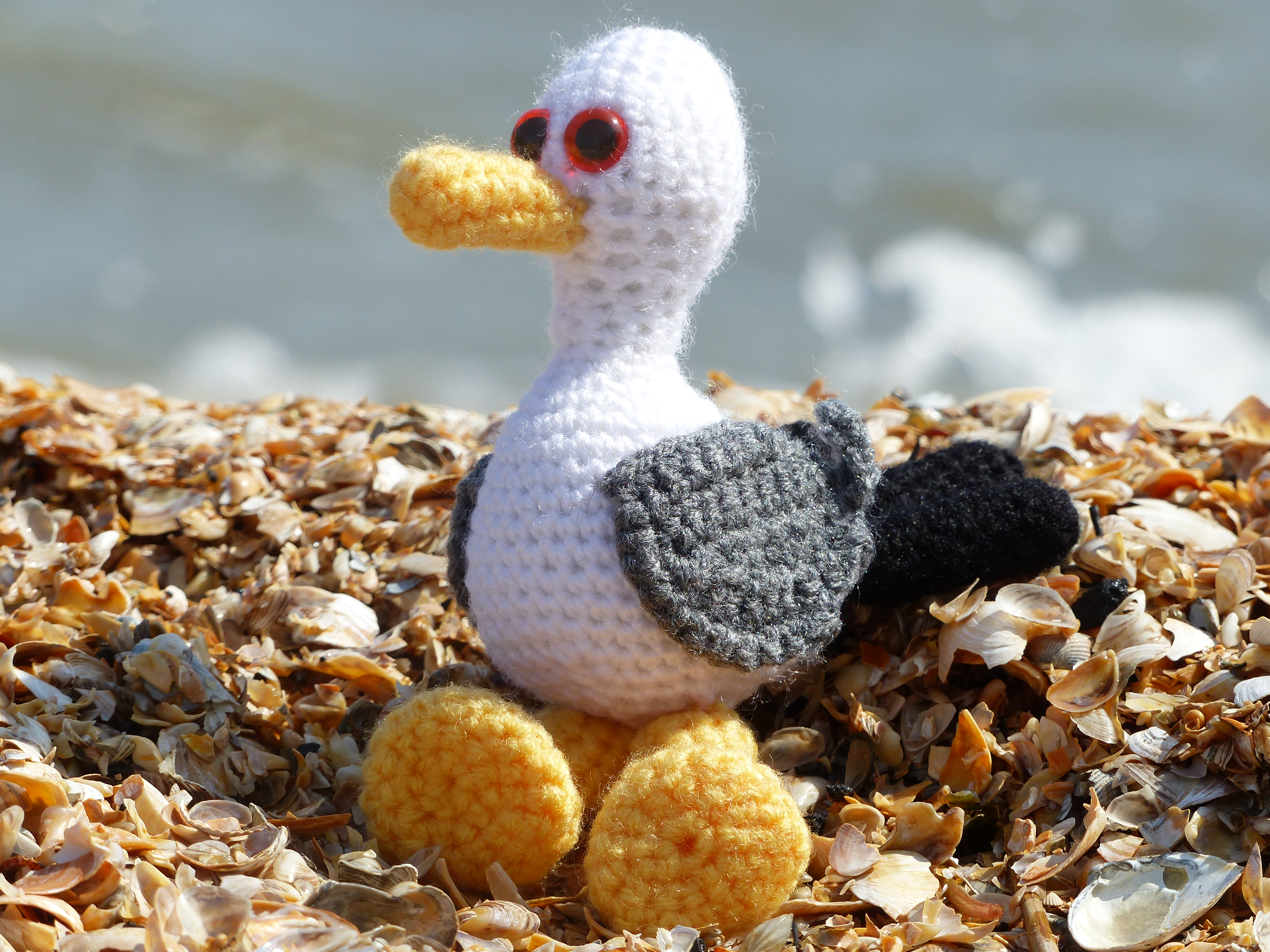 A Different Coast And A Crocheted Seagull Coastal Crochet