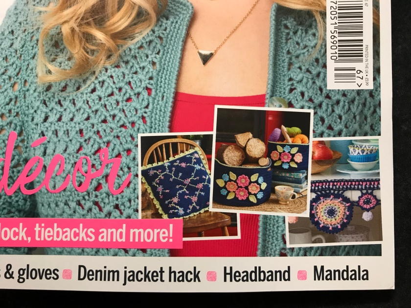 Front Cover News Tunisian Crochet And Cross Stitch Cushion
