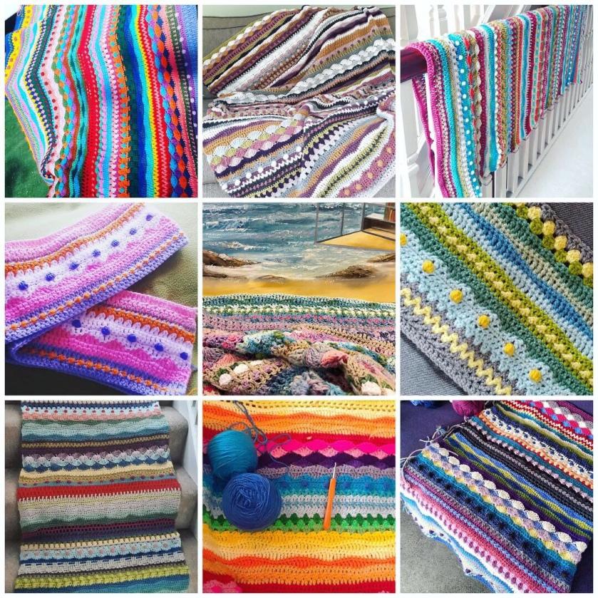 Seaside Stash Busting Blanket Week 35 Coastal Crochet